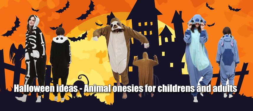 Halloween ideas – Animal onesies for childrens and adults
