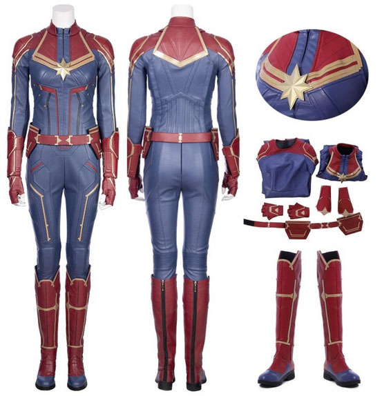 captain marvel cosplay costume top level by simcosplay