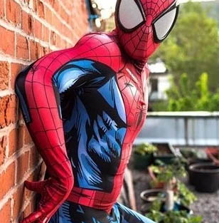 comic printing spider-man suit cosplay